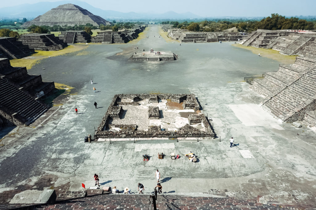 Zona arqueológica Teotihuacán, Mexico, view from the Pyramid of The  Moon