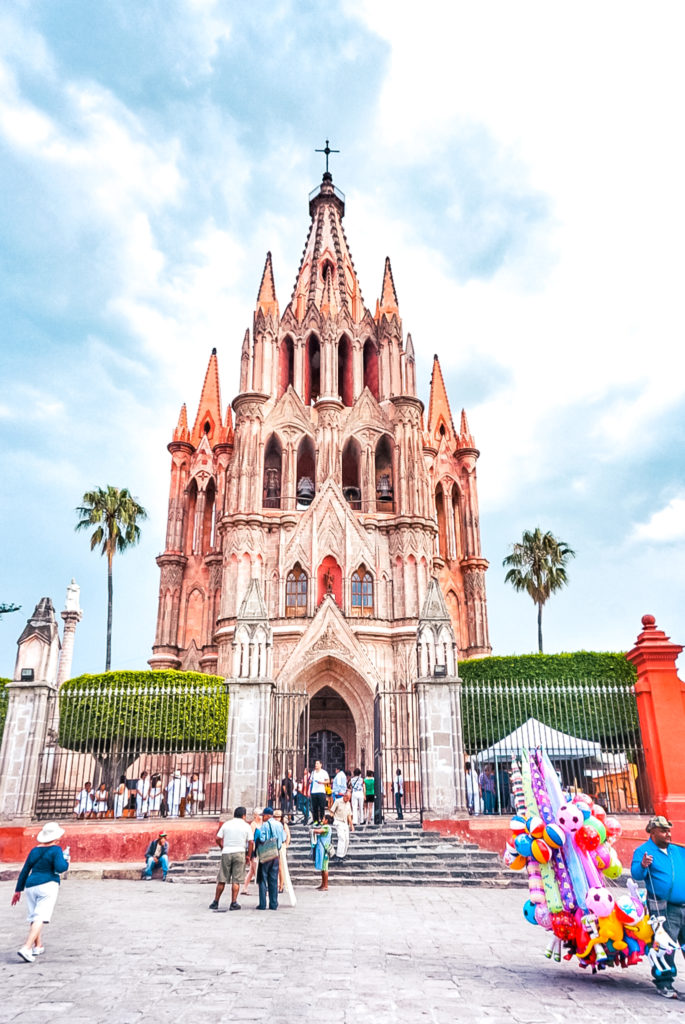 Parroquia de San Miguel Arcángel in San Miguel de Allende, Mexico