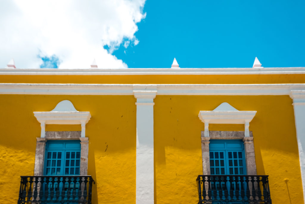 Building in Campeche, Mexico