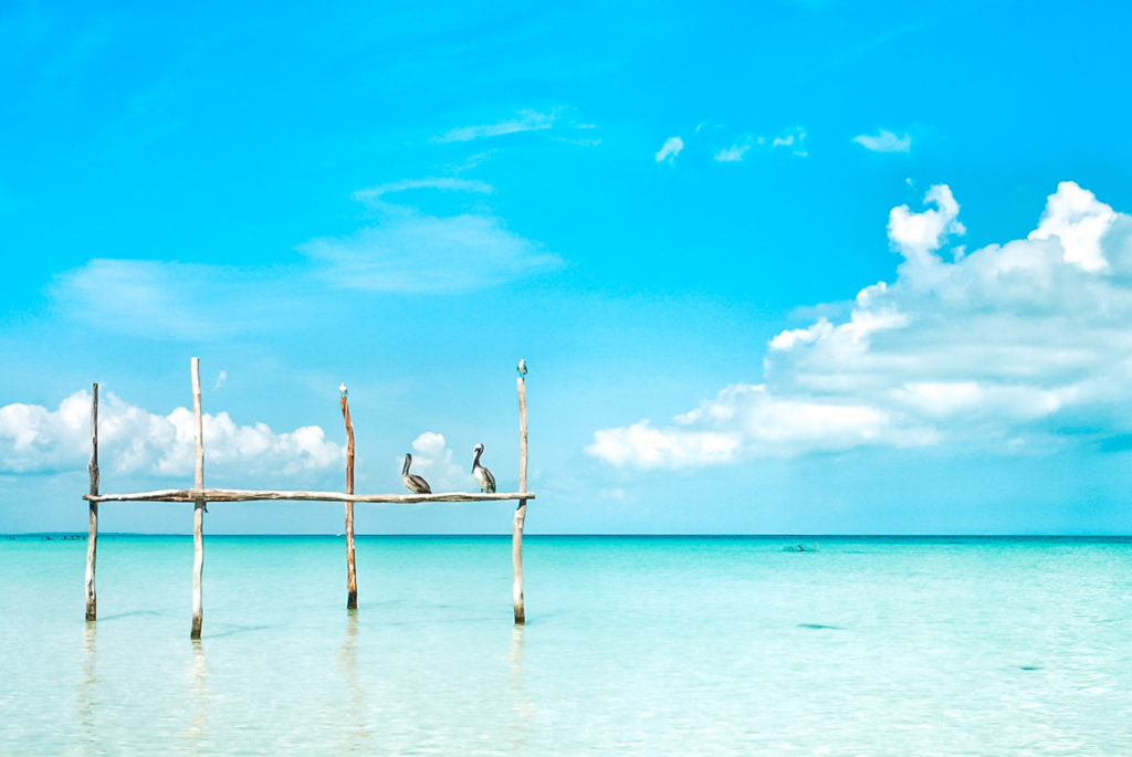 Beach in Isla Holbox, Mexico