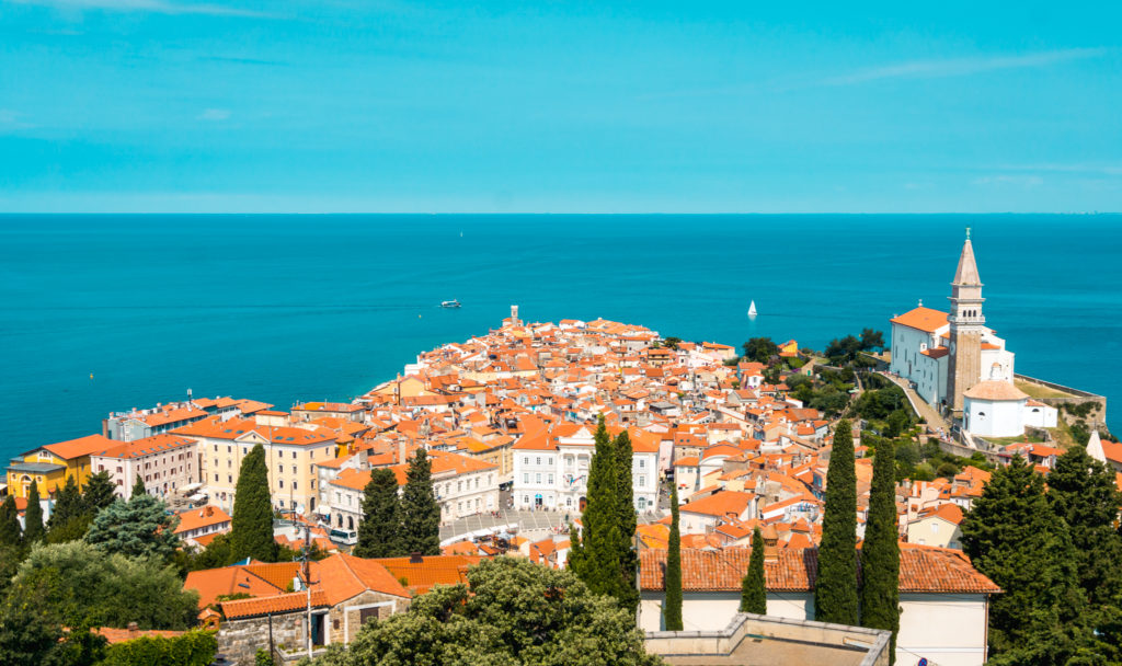 View of Piran from the Walls of Piran, Slovenia