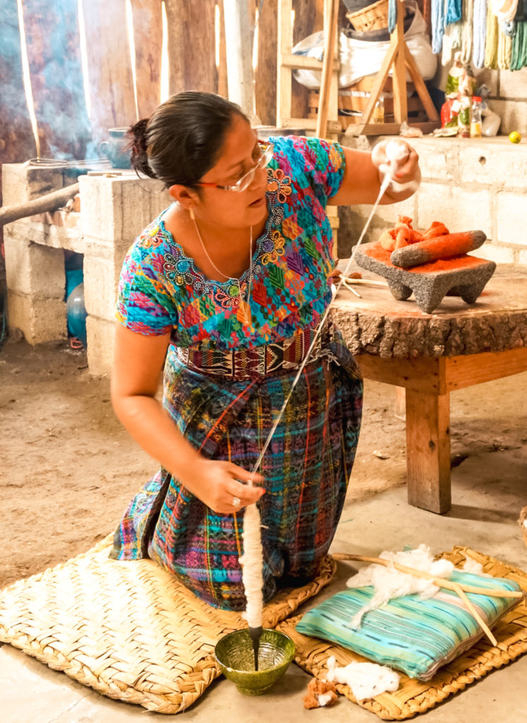 Casa Flor Ixcaco, Lake Atitlán traditionall weaving, Guatemala
