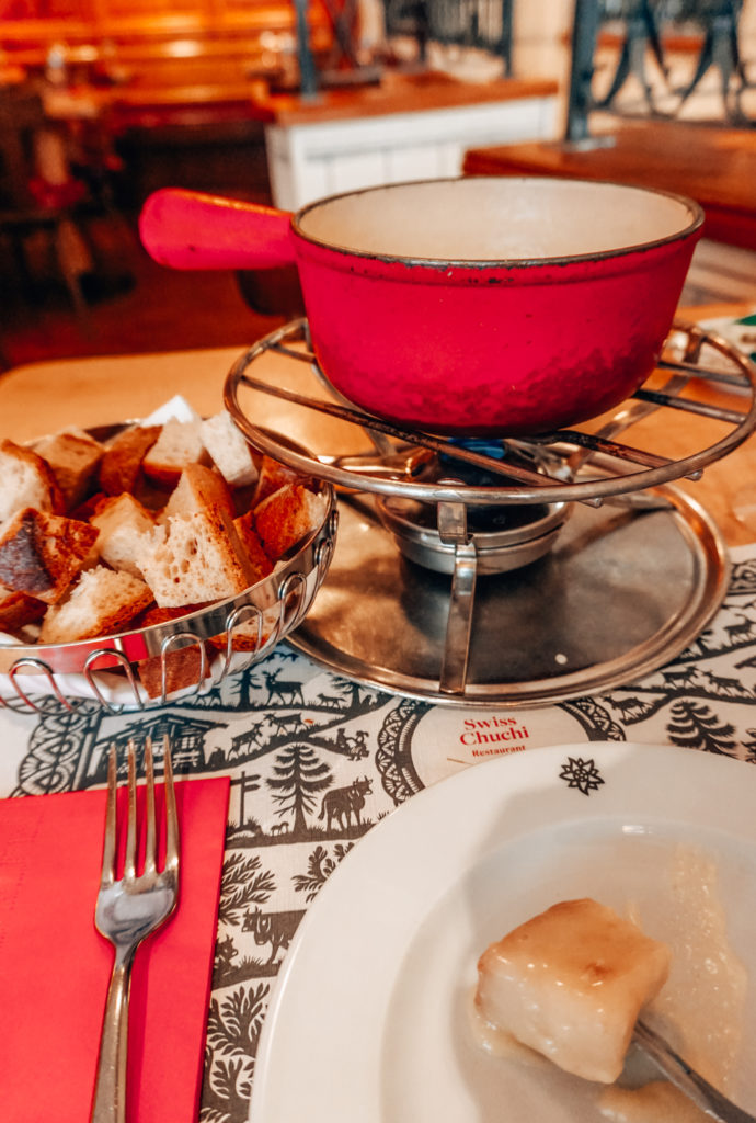 Fondue at Swiss Chuchi